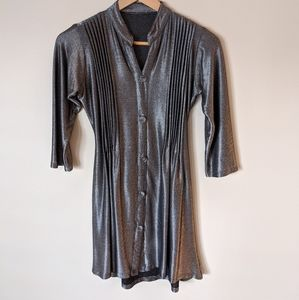Vintage 90s Metallic Baby Doll Dress Size S